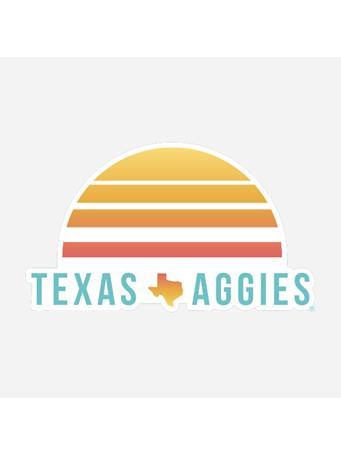 Texas Aggies Sunset Dizzler Sticker