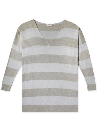 Striped Lurex Top Sprakle