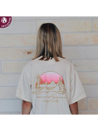 Texas A&M Aggies Pink Sunrise T-Shirt