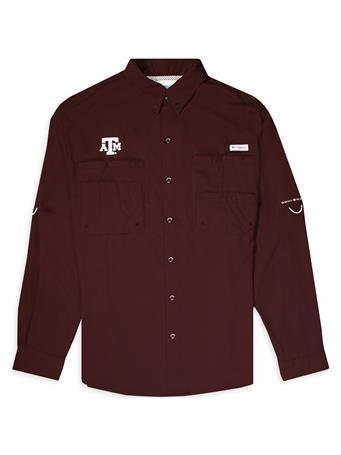 Texas A&M Columbia Tamiami Long Sleeve Button Down