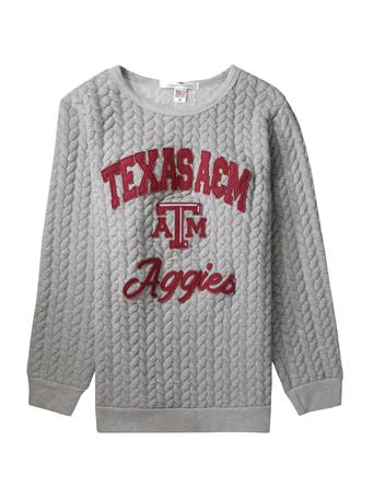 Texas A&M The Jenny Braided Sweatshirt