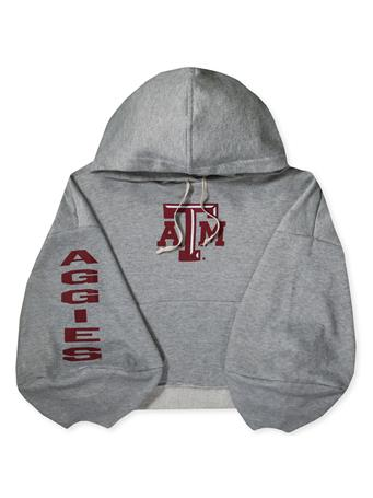 Texas A&M Delilah Crop Sweatshirt