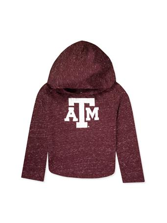 Texas A&M Toddler Girl's Heathered Hooded Tee