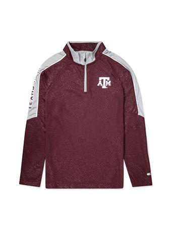 Texas A&M Colosseum Youth Bunsen Windshirt  1/4 Zip Pullover