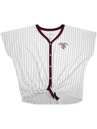 Texas A&M Colosseum Playground Striped Button Tee