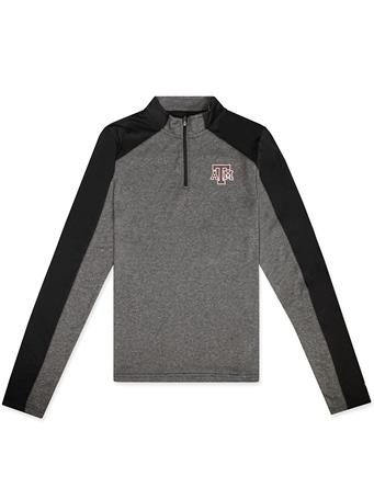Texas A&M Colosseum Youth Quary 1/4 Zip Long Sleeve Tee