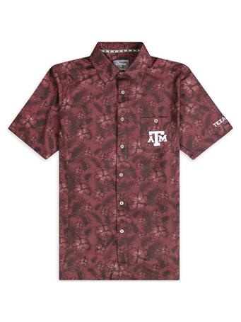 Texas A&M Colosseum Molokai Camp Button Shirt