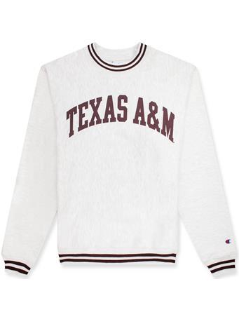 Texas A&M Champion Unisex Reverse Weave Crew