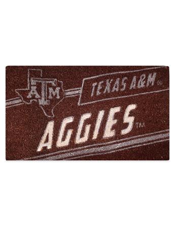 Texas AM Coir Punch Mat