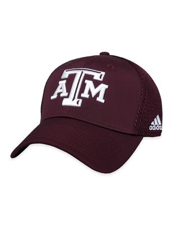 Texas A&M Coach Structured Adj Mesh Back Block ATM