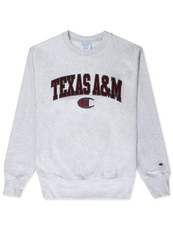 Texas A&M Champion Reverse Weave Crew Sweatshirt
