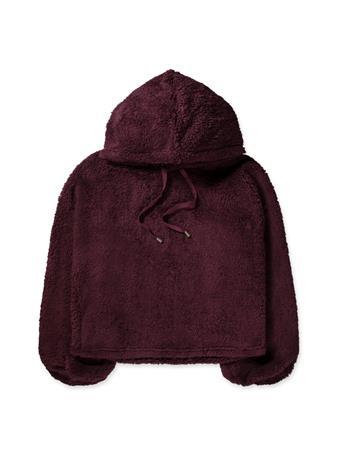 Maroon Z Supply Sherpa Pullover Hoodie