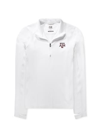Texas A&M Cutter & Buck Ladies Traverse Half-Zip
