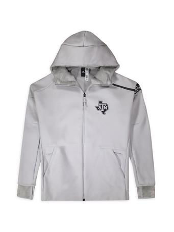 Texas A&M Adidas Zone Full-Zip Hooded Jacket