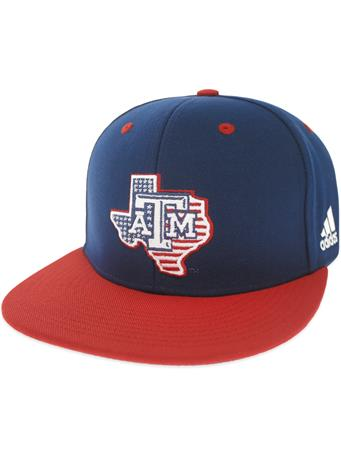 Texas A&M Adidas Lone Star Patriotic Fitted Baseball Cap