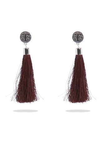 Texas A&M Tia Maroon Tassel Earrings