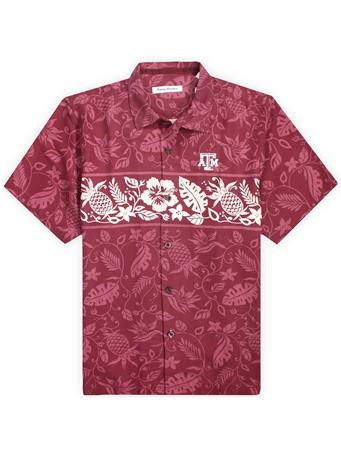 Texas A&M Tommy Bahama Pina Plazzo Silk Camp Button Down