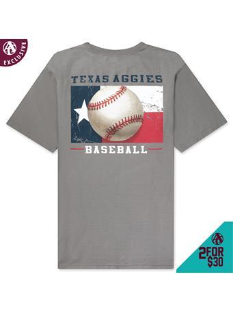 Texas A&M Baseball Flag T-Shirt
