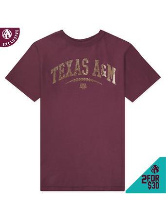 Texas A&M Football Gold Foil T-Shirt