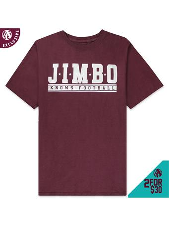 Jimbo Knows Football Athletic T-Shirt
