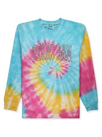 Texas A&M Rainbow Tie Dye Corduroy Sweatshirt
