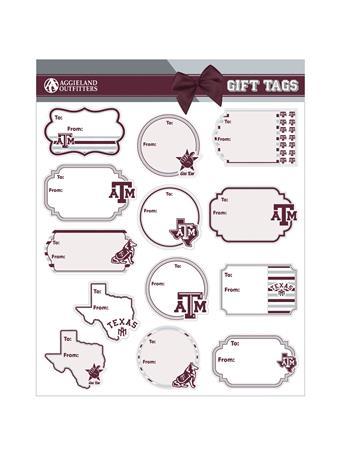 Texas A&M Gift Tag Sticker Sheet