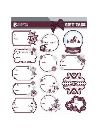 Texas A&M Holiday Gift Tag Sticker Set