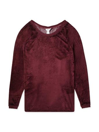 Maroon Hard Tail Shoulder Slide Raglan Long Sleeve
