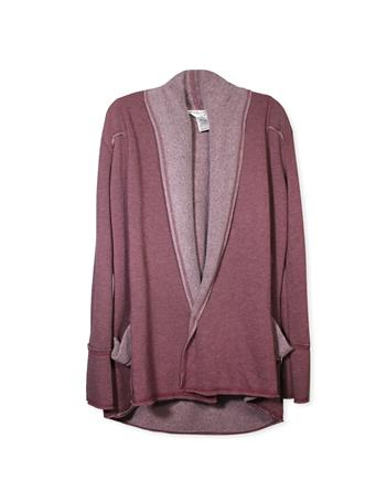 Maroon Slouchy Fig Cardigan