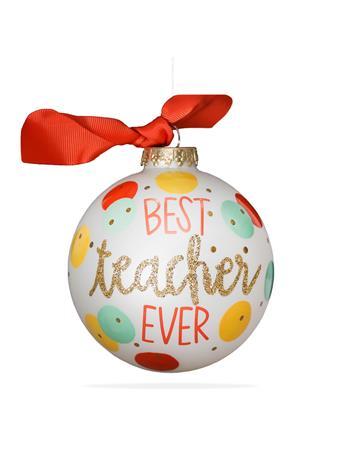 Coton Colors Best Teacher Ever Ornament