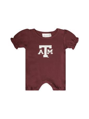 Texas A&M Infant Ruffle Sleeve Romper