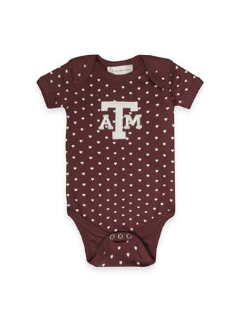 Texas A&M Infant Heart Lap Shoulder Creeper
