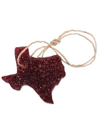 Maroon Texas Butt Naked Bead Freshener