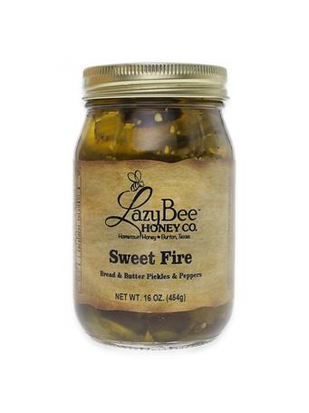 Lazy Bee Honey Sweet Fire Pickles & Peppers