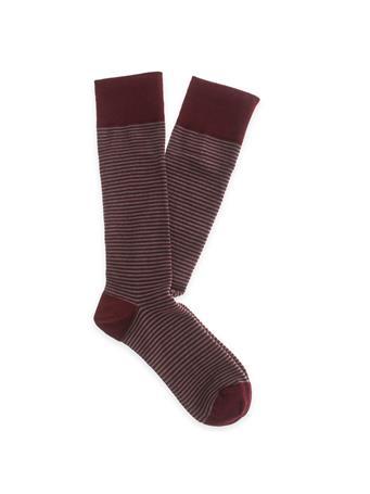 Maroon Men's Mircostriped Dress Socks