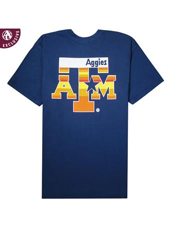 Texas A&M Aggies Blue & Orange Star T-Shirt