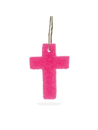 Pink Cross Butt Naked Bead Air Freshener