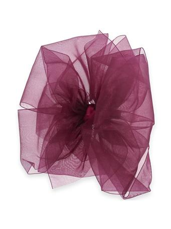 Maroon King Organza Double Basic Bow