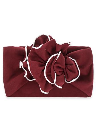 Maroon Jersey Flower Toddler Headband