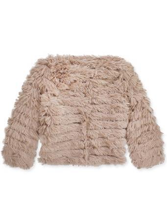 Women`s Long Sleeve Layered Faux Fur Jacket