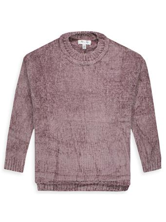 Maroon Chenille Knit Sweater Top