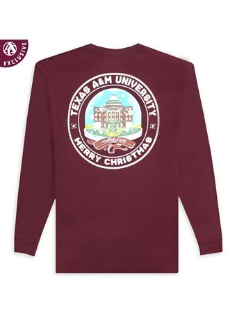 Texas A&M Academic Snow Globe Long Sleeve Tee