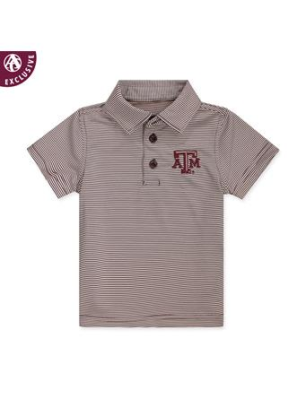 Texas A&M Infant Micro Stripe Polo