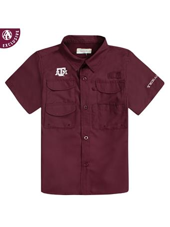 Texas A&M Maroon Athletic Fishing Shirt