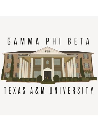 Texas A&M Gamma Phi Beta House Dizzler Sticker
