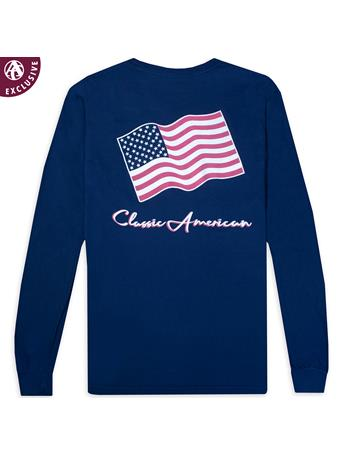 Classic American Flag Long Sleeve T-Shirt