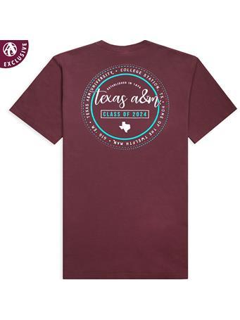 Texas A&M Class of 2024 Script Circle T-Shirt