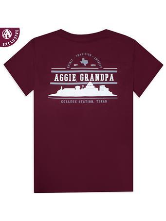 Texas A&M Aggie Grandpa Skyline T-Shirt