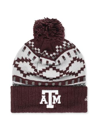 Texas A&M Adidas Pattern Beanie
