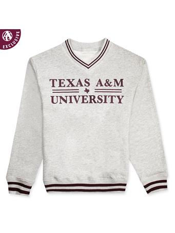 Texas A&M Youth Basic Bar Striped Sweatshirt